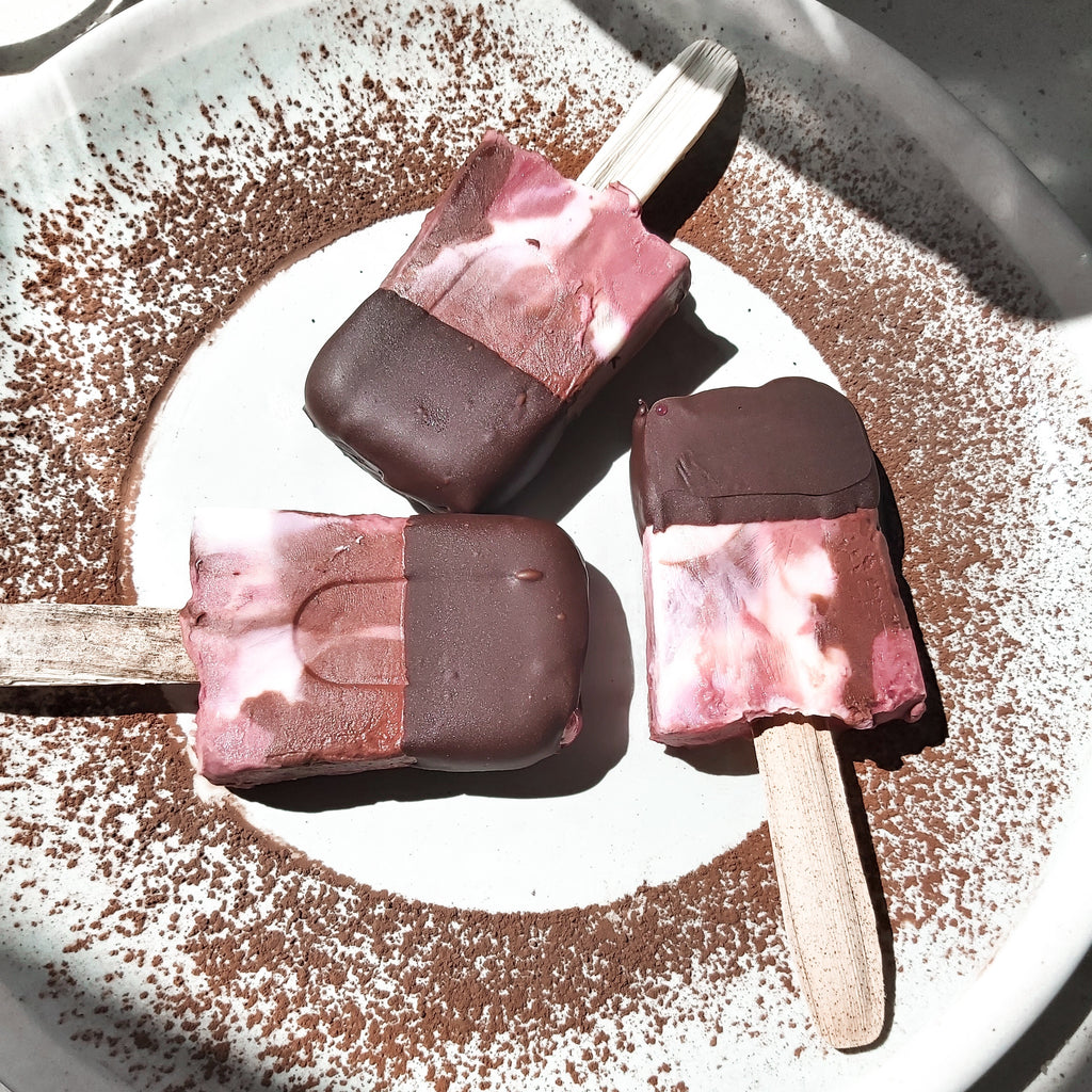 Best Collagen Recipe - Choc-Raspberry Collagen Ice Pole Pops