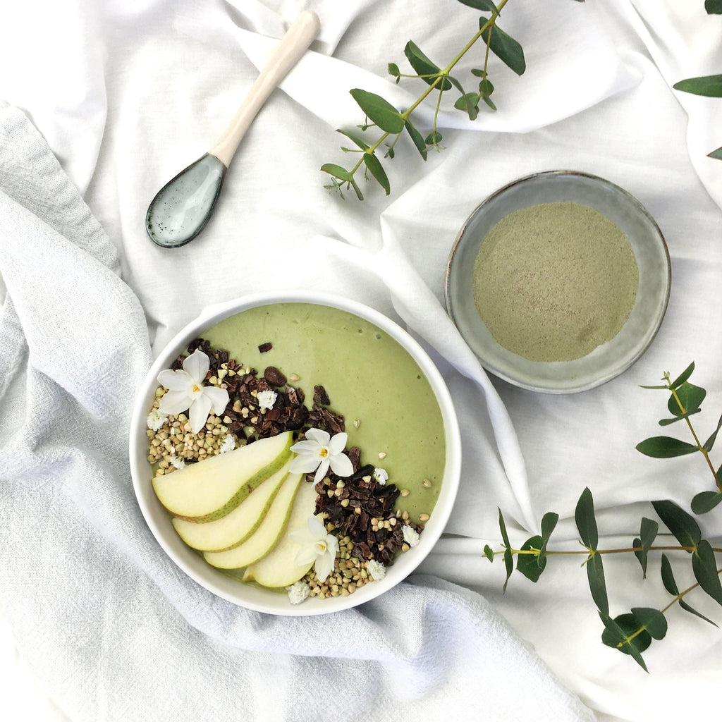Best Collagen Smoothie Bowl Recipe - Green French Pear Smoothie Bowl