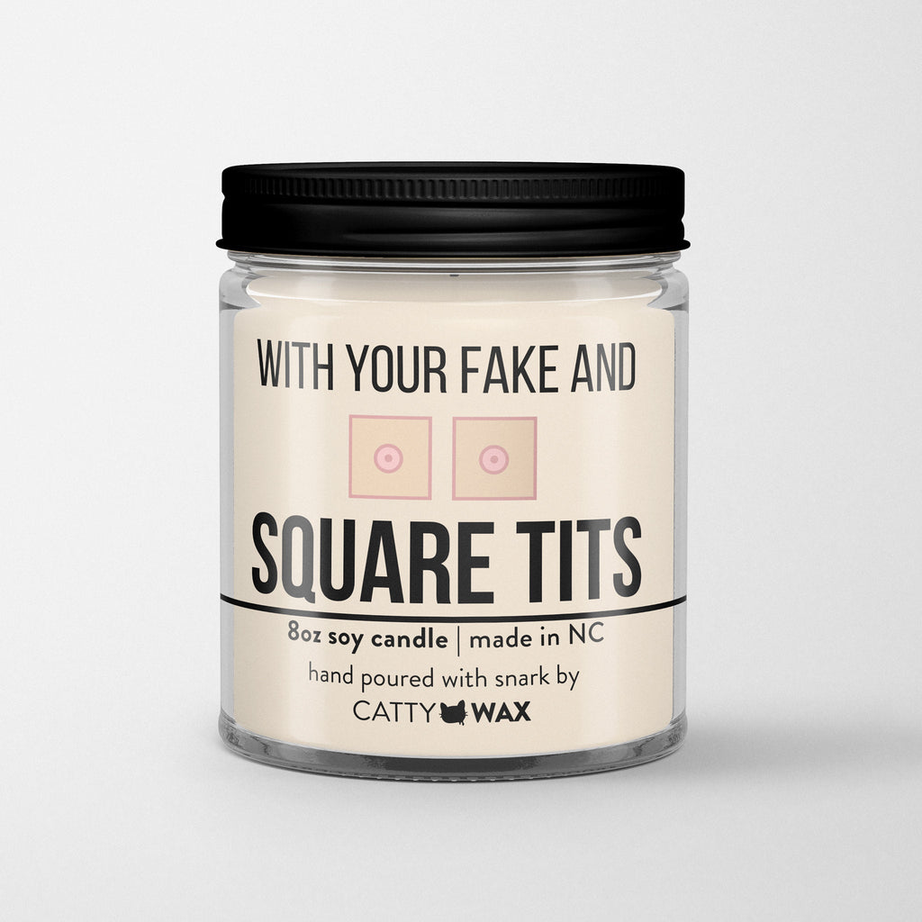 Fake Square Tits Candle - Real Housewives of New Jersey - Funny Candle - RHONJ Gift