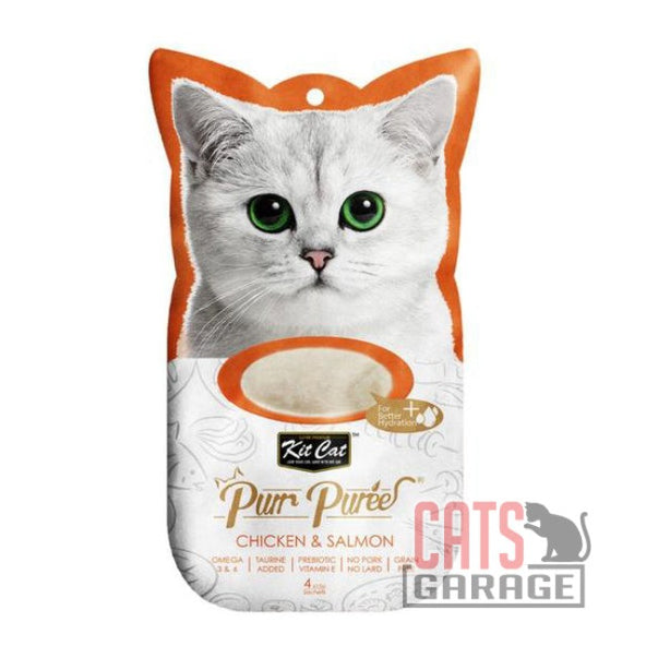Kit Cat® Purr Puree - Chicken & Salmon Cat Treat 60g