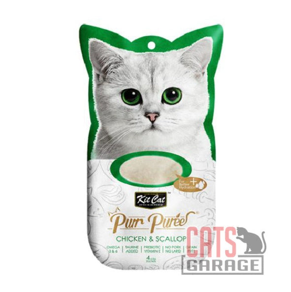 Kit Cat® Purr Puree - Chicken & Scallop Cat Treat 60g