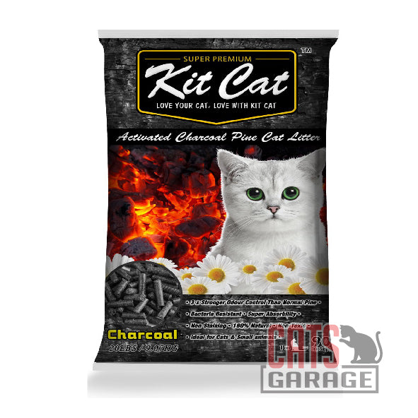 Kit Cat® Pine Cat Litter - Activated Charcoal 20lb