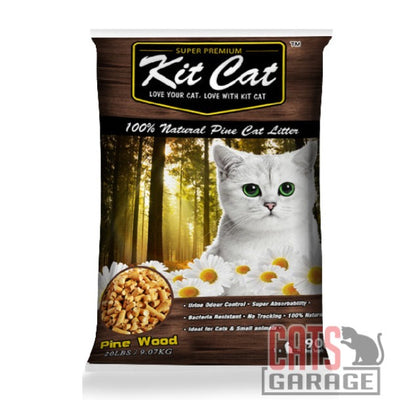Kit Cat® Pine Cat Litter - Natural Wood (3 Sizes)