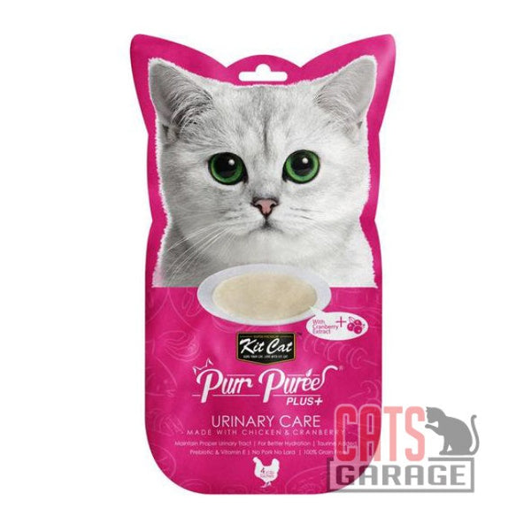 Kit Cat® Purr Puree Plus+ Urinary Care (Chicken & Cranberry) Cat Treats 60g