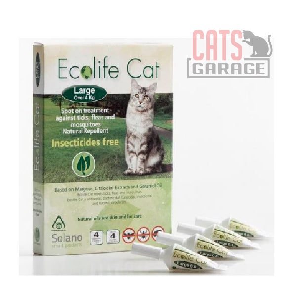 Solano Ecolife - Spot-On Cat Flea Control Solution for Cats over 4kg