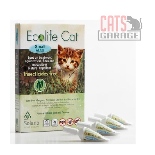 Solano Ecolife - Spot-On Cat Flea Control Solution (0.8 - 4kg)