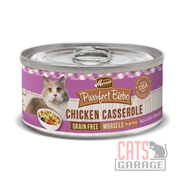 Merrick® Purrfect Bistro Grain Free - Chicken Casserole Morsels in Gravy 156g