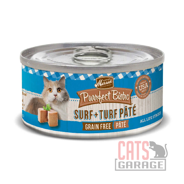 Merrick® Purrfect Bistro Grain Free - Surf and Turf Pate 156g