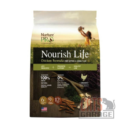 Nurture™ Pro Nourish Life - Chicken Formula for Kittens & Adults (3 Sizes)