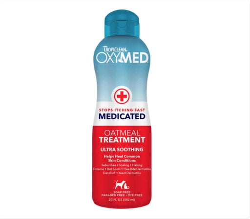 Tropiclean OxyMed Medicated Oatmeal Treatment Rinse for Cats & Dogs 20oz