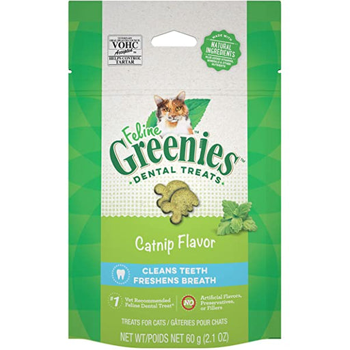 FELINE GREENIES™ Dental Treats - Catnip 60g