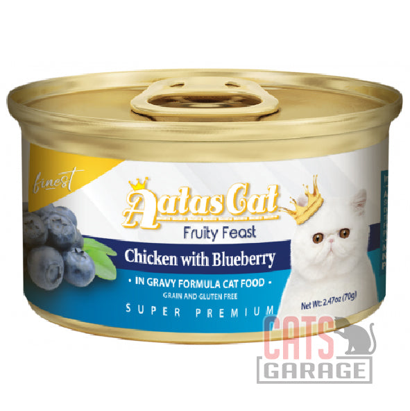 AATAS CAT Finest Fruity Feast - Chicken with Blueberry in Gravy 70g