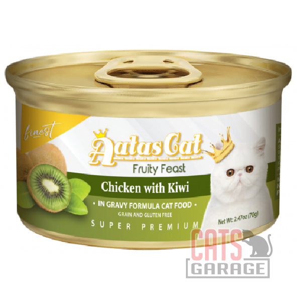 AATAS CAT Finest Fruity Feast - Chicken with Kiwi in Gravy 70g
