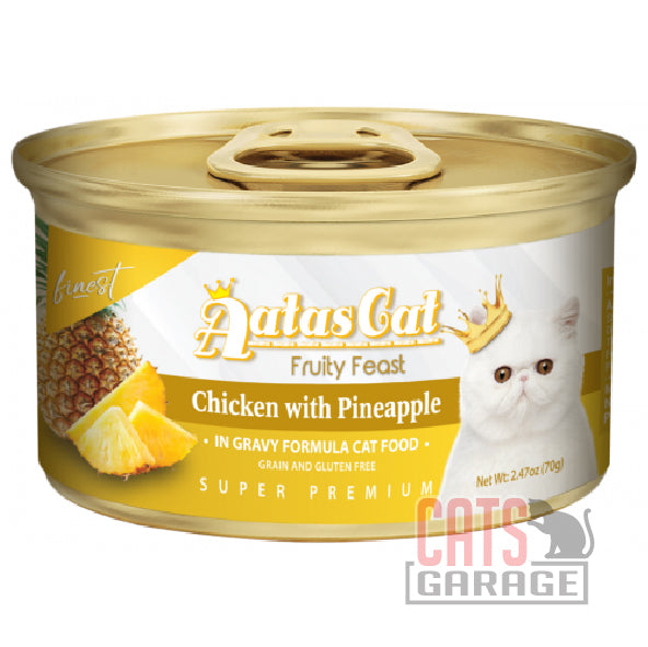 AATAS CAT Finest Fruity Feast - Chicken with Pineapple in Gravy 70g