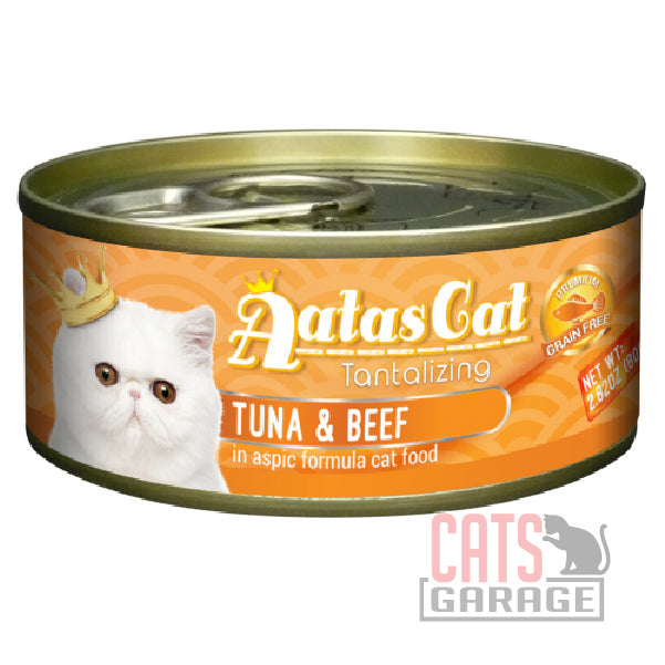 AATAS CAT Tantalizing - Tuna & Beef in Aspic Formula 80gms