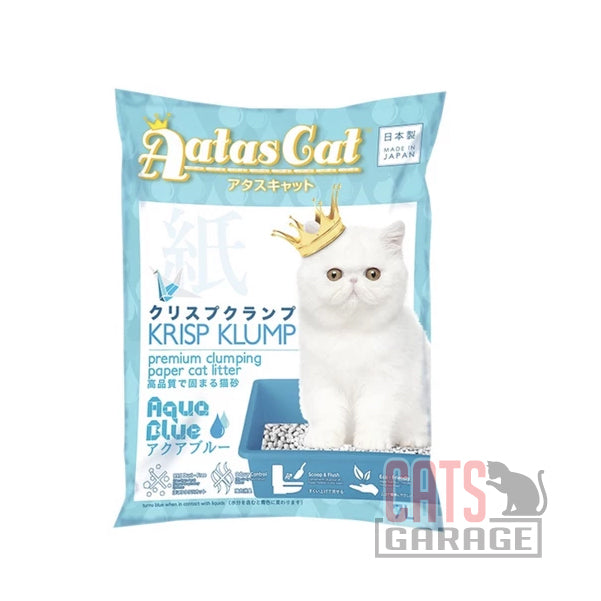 AATAS CAT Krisp Klump Paper Litter - Aqua Blue 7L