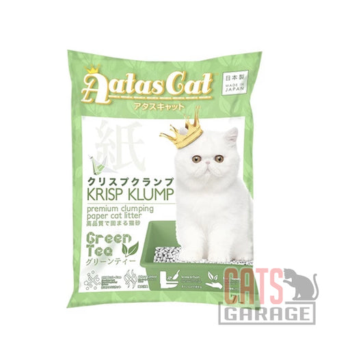 AATAS CAT Krisp Klump Paper Litter - Green Tea 7L / 2.6lbs