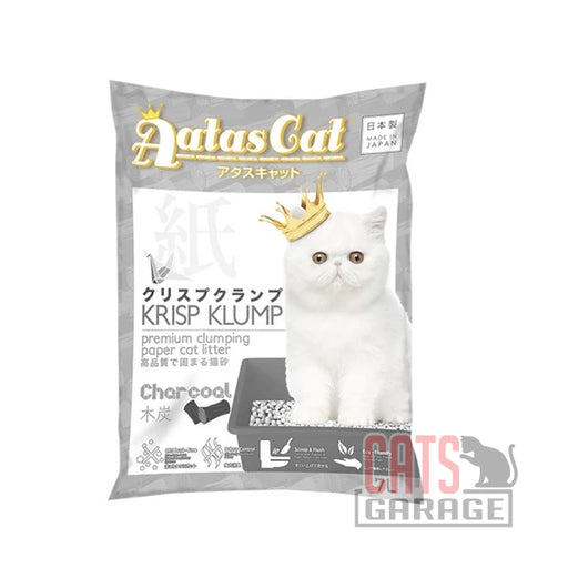 AATAS CAT Krisp Klump Paper Litter - Charcoal 7L / 2.6lbs