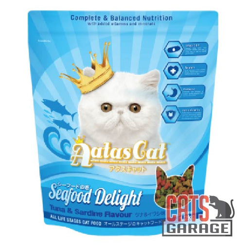 AATAS CAT Seafood Delight Tuna & Sardine Cat Dry Food 1.2Kg