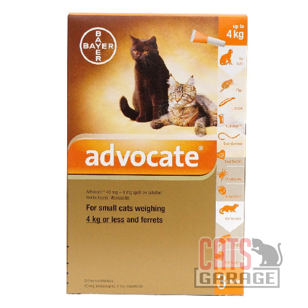 Bayer Advocate® - Flea and Heartworm Treatment for Cats (1 - 4kg)