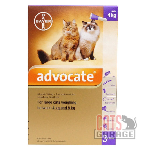 Bayer Advocate® - Flea and Heartworm Treatment for Cats (4-8kg)