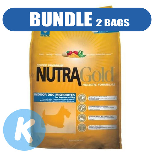 NutraGold - Holistic Indoor Adult Microbites Dry Dog Food 3kg