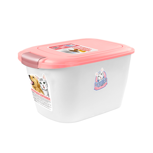 Catidea - Luxury Double Open Pet Food Container 10L (Pink)