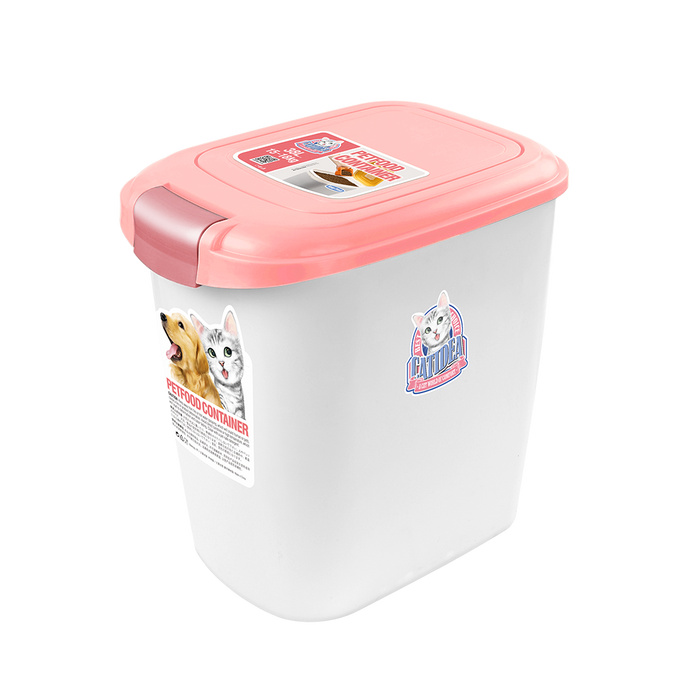 Catidea - Luxury Double Open Pet Food Container 14L (Pink)