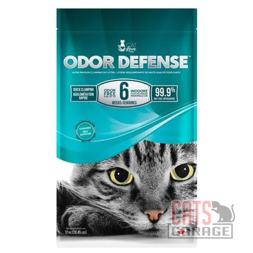 Cat Love - Odor Defense Unscented Premium Clumping Cat Litter 12kg