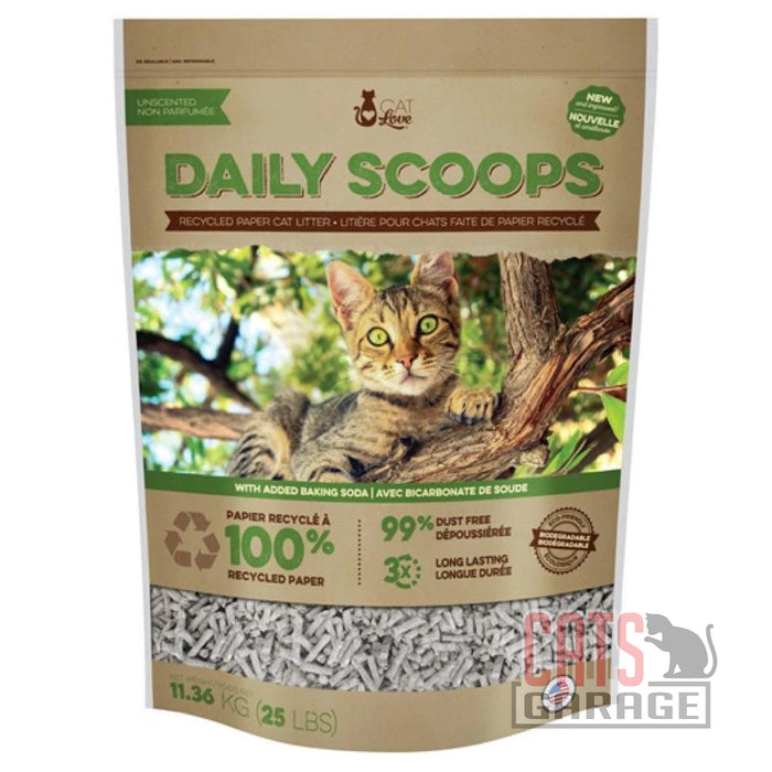 Cat Love - Daily Scoops Recycle Paper Cat Litter (2 Sizes)