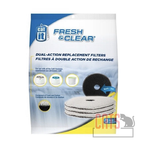 Catit® - Design Fresh & Clear Foam/Carbon Filters - 3 pack
