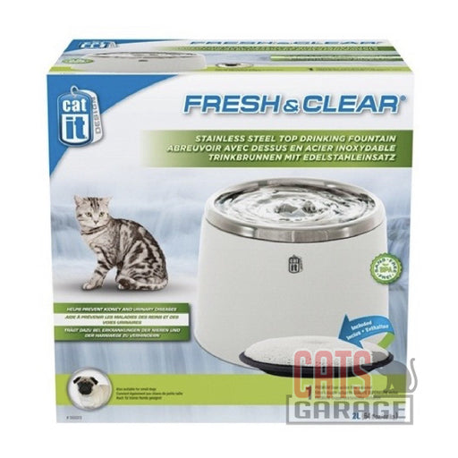 Catit® - Fresh & Clear Stainless Steel Water Fountain