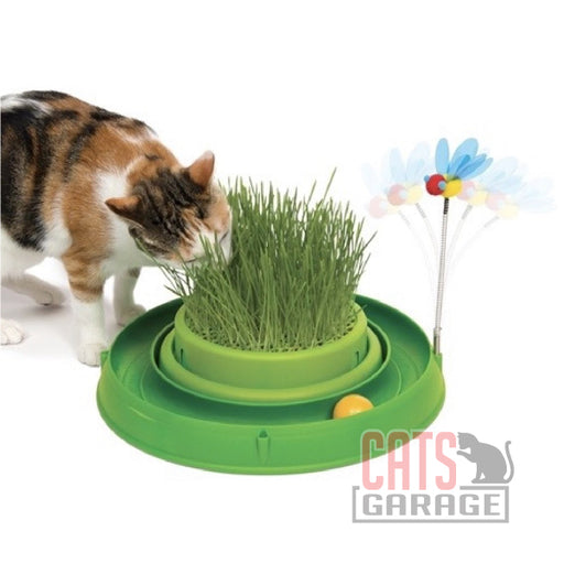 Catit® - Play 3 in 1 Circuit Ball Toy with Cat Grass