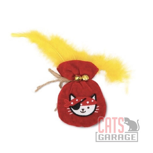 Catit® - Play Pirates Catnip Toys - Plush Gold Pouch