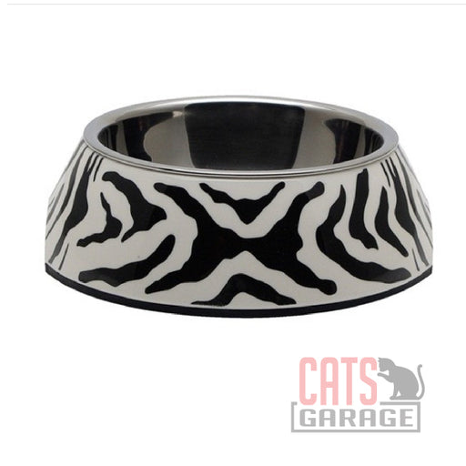 Catit® - Style 2-in-1 Cat Dish - White Tiger Pattern, Extra Small