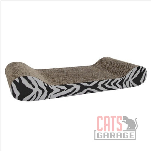 Catit® - Style Patterned Cat Scratcher with catnip - White Tiger, Lounge
