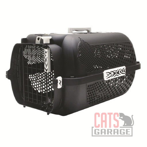 Catit® - Voyageur Cat Carrier- Black, White Tiger Print, Medium