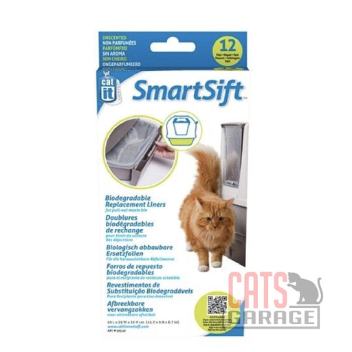 Catit® Design SmartSift Biodegradable Replacement Liners - 12-pack For Pull-Out Waste Bin