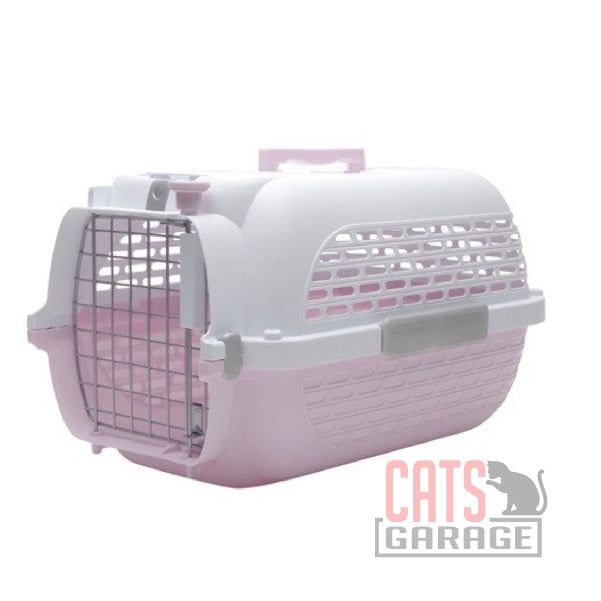 Catit® Voyageur Cat Carrier - Pink/White - Medium