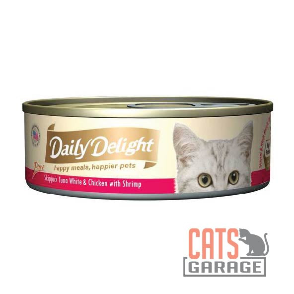 Daily Delight - Pure Skipjack Tuna White & Chicken With Shrimp 80g