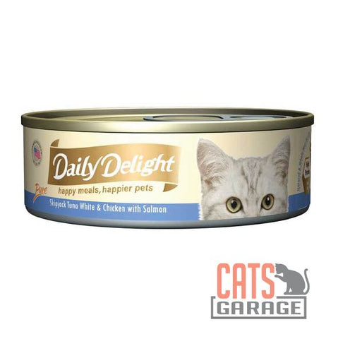 Daily Delight - Pure Skipjack Tuna White & Chicken With Salmon 80g
