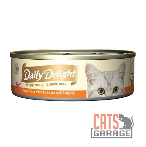 Daily Delight - Pure Skipjack Tuna White & Chicken With Pumpkin 80g