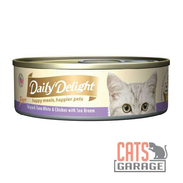 Daily Delight - Pure Skipjack Tuna White & Chicken With Sea Bream 80g