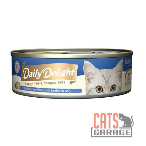 Daily Delight - Skipjack Tuna White with Sardine in Jelly 80g