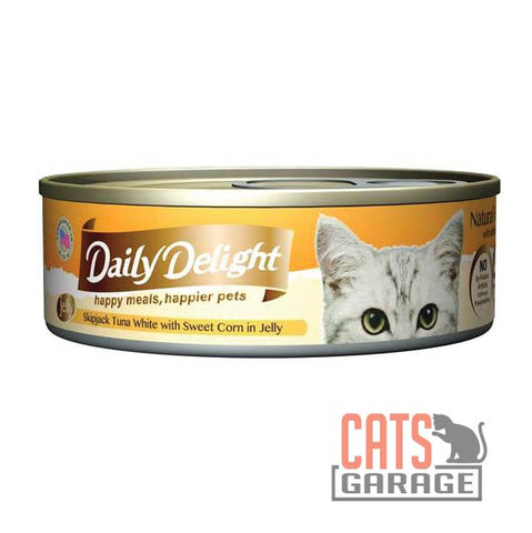 Daily Delight - Skipjack Tuna White with Sweet Corn in Jelly 80g