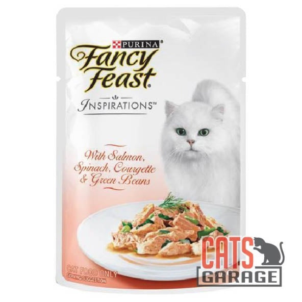 Fancy Feast® Inspirations - Salmon, Spinach, Courgette & Green Beans 70g