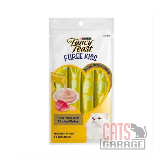 Fancy Feast® Puree Kiss Treats - Tuna Puree With Chicken Flakes 40g