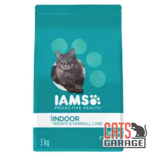 IAMS Cat - Adult Indoor Weight & Hairball Care Chicken (3 Sizes)
