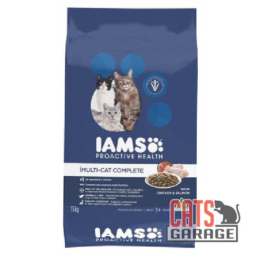 IAMS Cat - Adult Multi-Cat Complete Chicken & Salmon (3 Sizes)