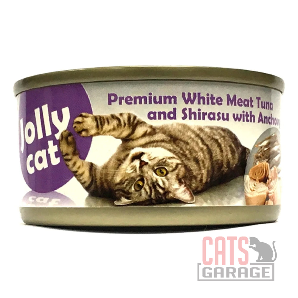 Jolly Cat Premium - White Meat Tuna & Shirasu with Anchovy 80g